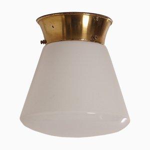 Lámpara de techo cónica de vidrio, años 30