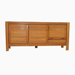 Vintage Elm Sideboard from Maison Regain, 1970s