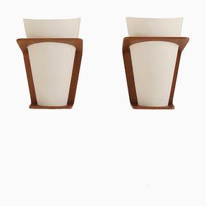 Lámparas de pared modelo NX 41 de Louis Kalff para Philips, años 60. Juego de 2