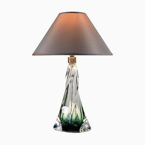 Belgische Vintage Tischlampe von Val St Lambert, 1960er