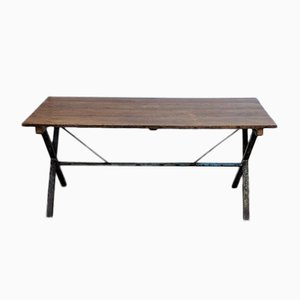Vintage Industrial Cross Legged Table