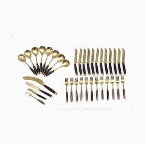 Danish Teak & Brass Cutlery Set, 1960s