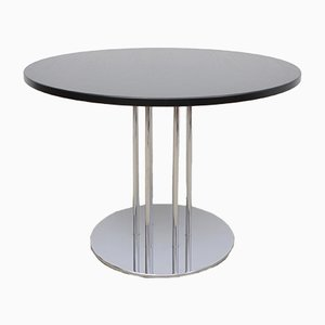German Chrome Plating and Ash S1048 Dining Table from Thonet, 1990s