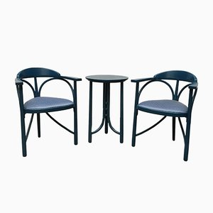 Art Deco Style Chairs & Table Set from Thonet, 1980s