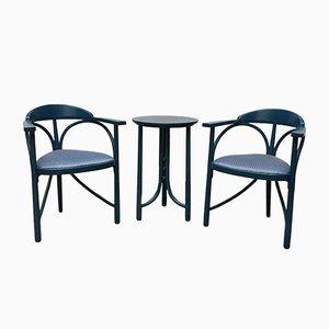 Set avec Chaises et Table Style Art Déco de Thonet, 1980s