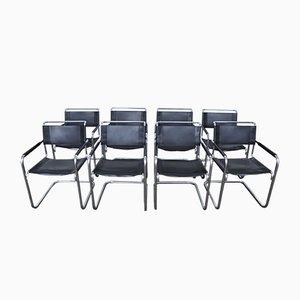 Deutsche S34 Esszimmerstühle von Mart Stam & Marcel Breuer für Thonet, 1980er, 8er Set