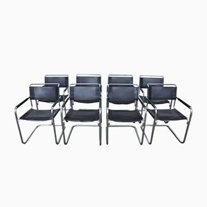 German S34 Dining Chairs by Mart Stam & Marcel Breuer for Thonet, 1980s, Set of 8