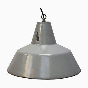 Lampada a sospensione vintage industriale grigia