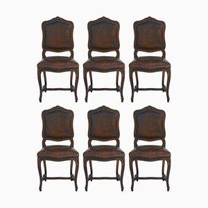 Antike Louis XV Esszimmerstühle, 1900er, 6er Set