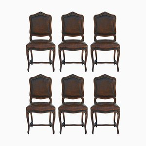 Antique Louis XV Dining Chairs, 1900s, Set of 6