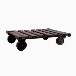 Petite Table Basse Industrielle Vintage