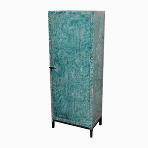 Green Flamed Industrial Cabinet, 1950s