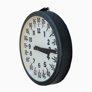 Horloge d'Usine Industrielle Vintage, 1930s
