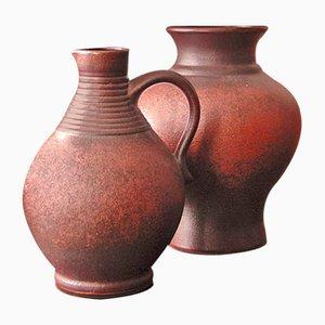 Große deutsche Vasen von Stein Keramik, 1960er, 2er Set