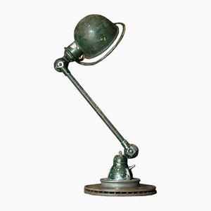 Dunkelgrüne Tischlampe von Jean-Louis Domecq für Jieldé, 1960er