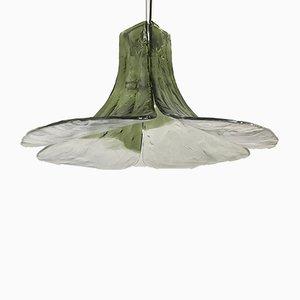Lámpara colgante italiana de vidrio y metal de Carlo Nason para Mazzega, años 70
