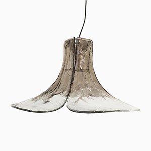 Lampe à Suspension en Verre et Métal par Carlo Nason pour Mazzega, Italie, 1970s