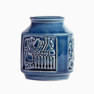 Small Danish Vase by Michael Andersen & Son for Bornholm, 1960s