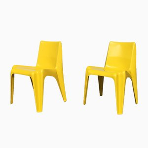 Plastic BA 1171 Stacking Chairs by Helmut Bätzner for Bofinger, 1960s, Set of 2