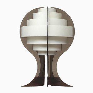 Lampada da tavolo Mid-Century in plastica di Flemming Brylle & Preben Jacobsen, Danimarca