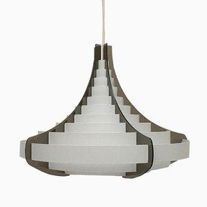 Lampada da soffitto Mid-Century in plastica di Flemming Brylle & Preben Jacobsen, Danimarca