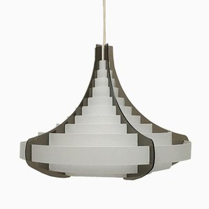 Lámpara de techo danesa Mid-Century de plástico de Flemming Brylle & Preben Jacobsen