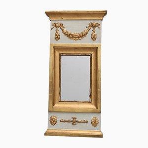 Espejo gustaviano antiguo de madera, década de 1820