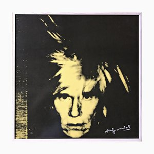 Piatto in porcellana con autoritratto di Andy Warhol di Rosenthal, 2002