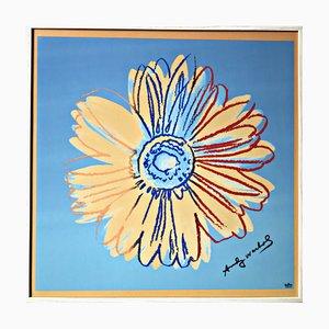 Poster Daisies, orange-turquoise di Andy Warhol per Rosenthal, 2002