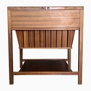 Mueble de costura danés Mid-Century de teca de Børge Mogensen, años 60