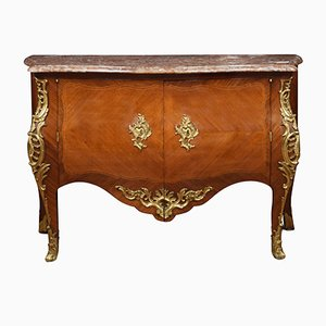 18th Century French Gilt Bronze & Kingwood Mounted Commode