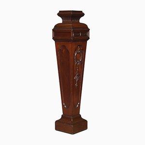 Antiker Fackelständer aus Nussholz