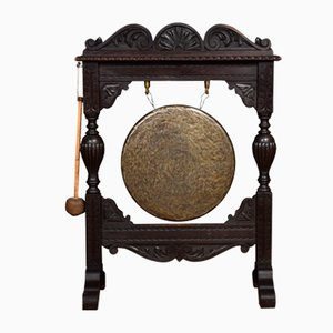 Antique Victorian Oak Dinner Gong