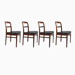 Rosewood Dining Chairs by Ib Kofod Larsen for Faarup Møbelfabrik, 1960s, Set of 4