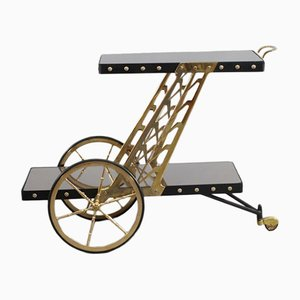 Mid-Century Italian Brass Trolley by Cesare Lacca, 1950s