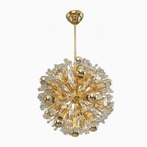 Austrian Glass Snowball Pendant by Emil Stejnar for Rupert Nikoll, 1960s