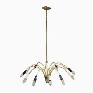 Italienische Mid-Century Deckenlampe aus Messing von Arredoluce, 1950er
