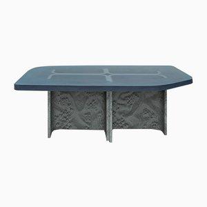 Grey Elm Burl Veneer & Resin Fossil Coffee Table by Daniel Nikolovski & Danu Chirinciuc for KABINET, 2019