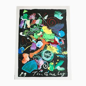 French Serigraph by Jean Tinguely, 1989