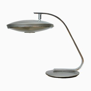 Lámpara de mesa modelo 520 de aluminio y cromo de Fase, años 70