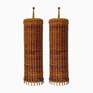 Mid-Century Italian Brass and Iron Sconces, 1950s, Set of 2