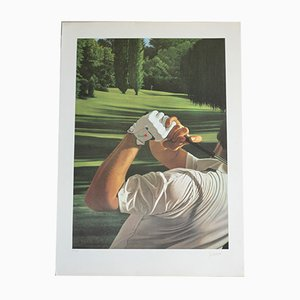Golf Lithograph by Gérard Schlosser, 1980s