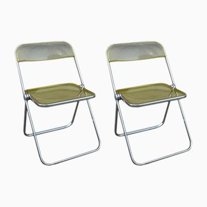 Italian Plia Folding Chairs by Giancarlo Piretti for Castelli, 1960s, Set of 2