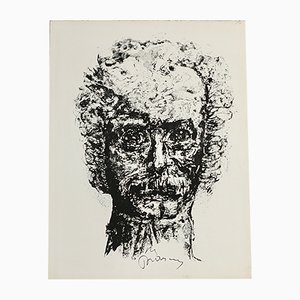 Lithograph by Yves Parsus, 1974