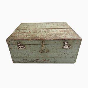 Caja de herramientas francesa Mid-Century de madera, años 50