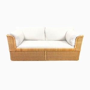 Vintage Rattan Sofa, 1980s