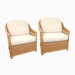Vintage Sessel aus Rattan, 2er Set