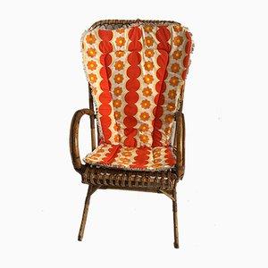 Französischer Mid-Century Sessel aus Rattan, 1960er
