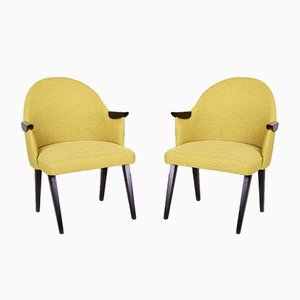 Mid-Century Czechoslovakian Lacquered Armchairs, 1950s, Set of 2