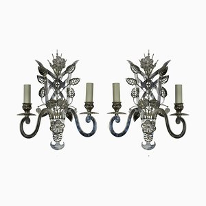 Vintage French Sconces, 1960s, Set of 2